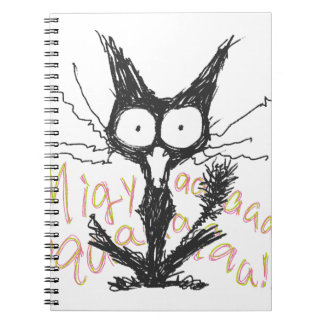 Screaming cat Migyaaa Colorful-Font Journal