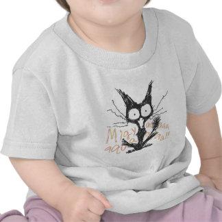 Screaming cat Migyaaa Colorful-Font Shirts