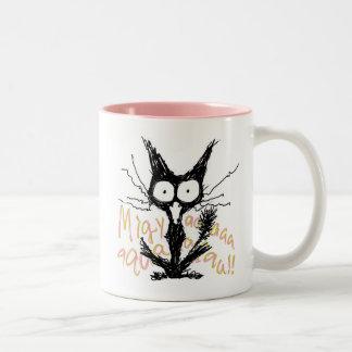 Screaming Cat Mugs