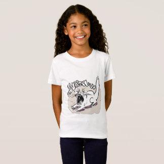 screaming cat says meow funny cartoon T-Shirt