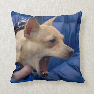 Screaming Chihuahua Throw Pillow