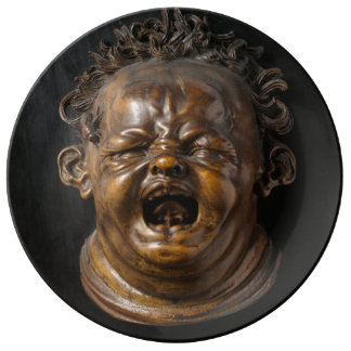 Screaming Child Stung by a Bee Dinner Plate