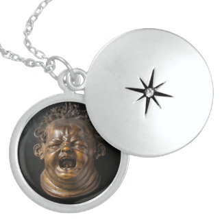 Screaming Child Stung by a Bee Round Locket Necklace