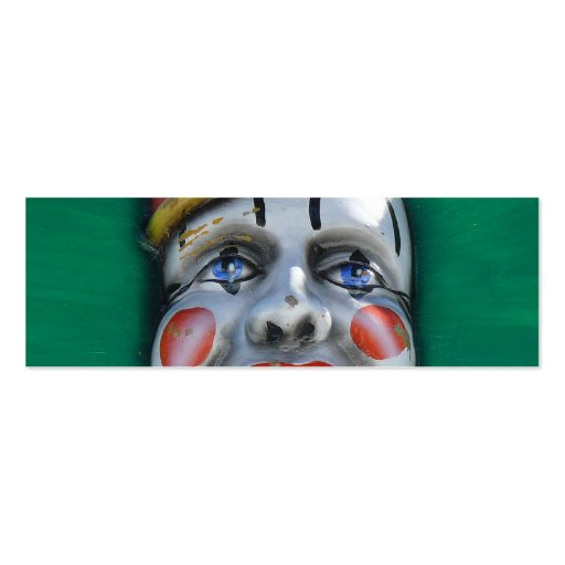 Screaming Clown Double-Sided Mini Business Cards (Pack Of 20)