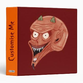 Screaming Demon 3 Ring Binder