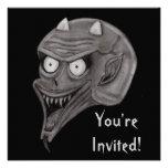 Screaming Demon Personalized Invitation