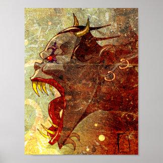 Screaming demon poster
