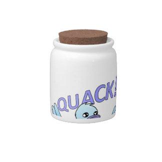 Screaming Duck Doodle Noodle Designs Candy Jar