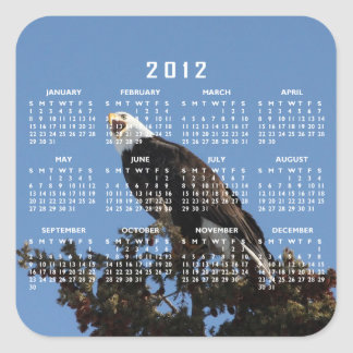 Screaming Eagle; 2012 Calendar Square Sticker