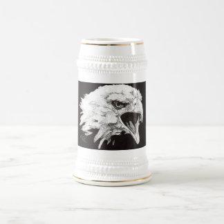 """""""Screaming eagle"""" Beer Stein"""