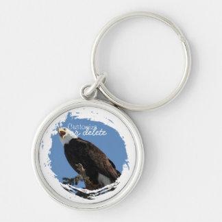 Screaming Eagle; Customizable Keychain