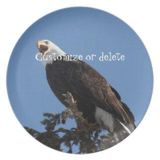 Screaming Eagle; Customizable Melamine Plate