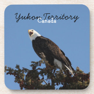 Screaming Eagle; Yukon Territory Souvenir Coaster