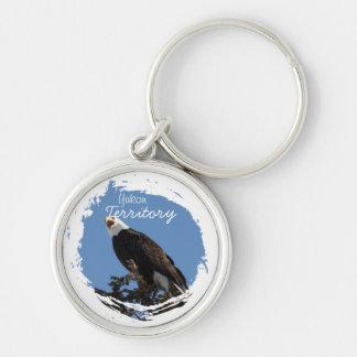 Screaming Eagle; Yukon Territory Souvenir Keychain