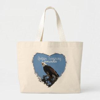 Screaming Eagle; Yukon Territory Souvenir Large Tote Bag