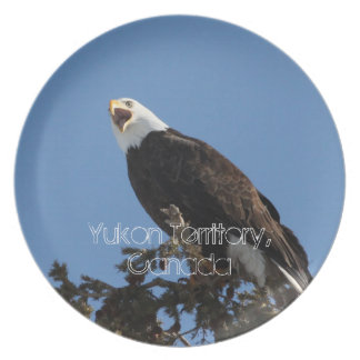 Screaming Eagle; Yukon Territory Souvenir Plate