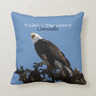 Screaming Eagle; Yukon Territory Souvenir Throw Pillow