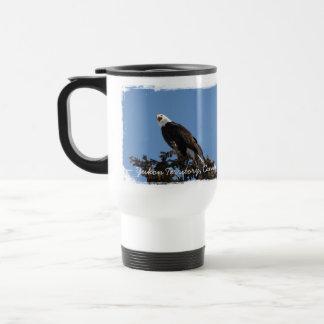 Screaming Eagle; Yukon Territory Souvenir Travel Mug