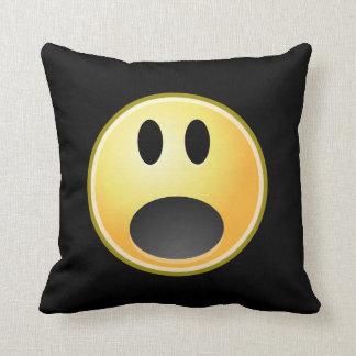 Screaming Emoticon Pillow