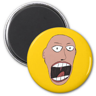 Screaming Face 2 Inch Round Magnet