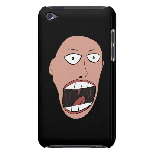 Screaming Face Barely There iPod Covers