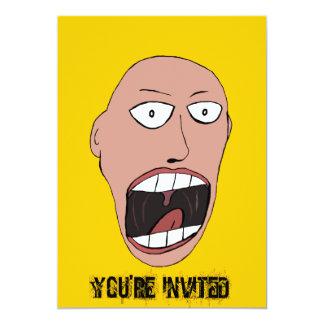 Screaming Face 5x7 Paper Invitation Card