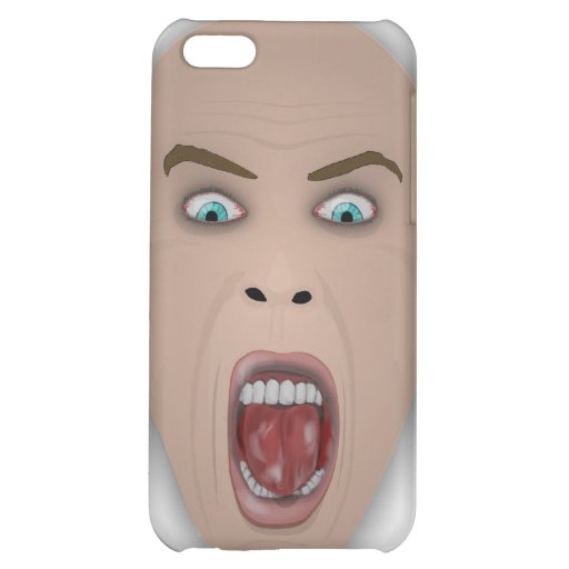 screaming face iPhone 5C cover