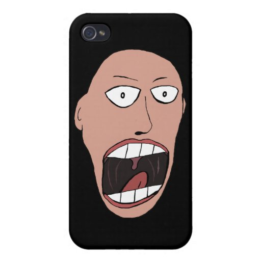 Screaming Face Case For iPhone 4