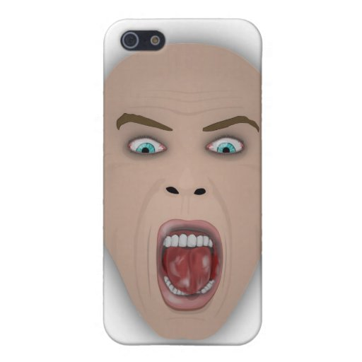 screaming face iPhone 5 covers