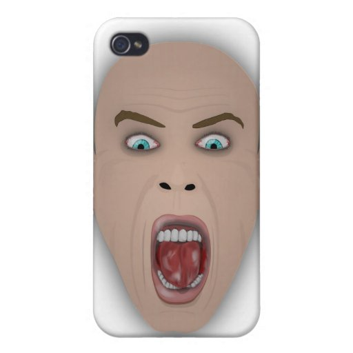 screaming face iPhone 4 cases