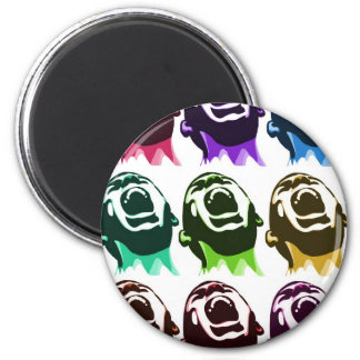 Screaming faces 2 inch round magnet
