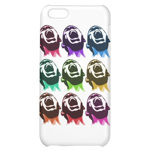 Screaming faces iPhone 5C covers