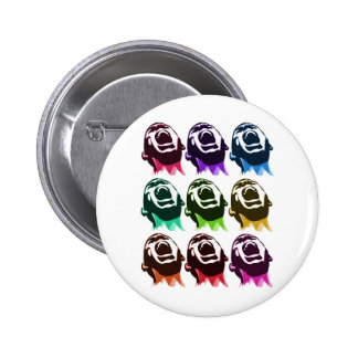 Screaming faces pinback buttons