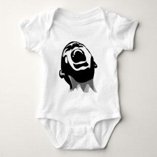 Screaming for help baby bodysuit