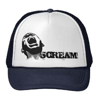 Screaming for help trucker hat