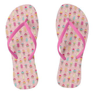 Screaming for Ice Cream Flip Flops