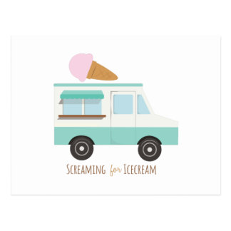 Screaming for Icecream Postcard