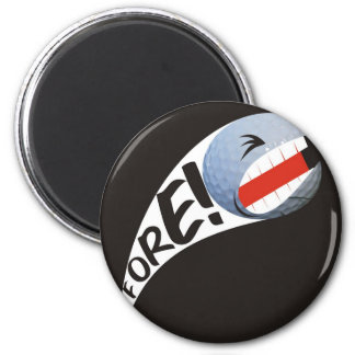 Screaming Golf Ball 2 Inch Round Magnet