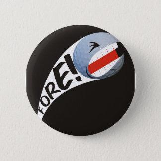 Screaming Golf Ball Pinback Button