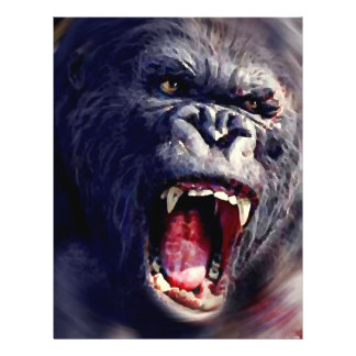 "Screaming Gorilla 8.5"" X 11"" Flyer"