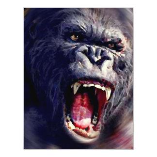 Screaming Gorilla Invitations