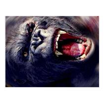 Screaming Gorilla Postcard