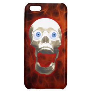 Screaming Gothic Skull - Halloween Horror Cover For iPhone 5C