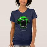 Screaming Green Zombie Ladies Basic T-shirt