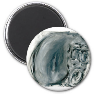 Screaming Grey 2 Inch Round Magnet