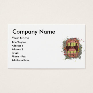 Screaming Grunge Mouth Business Card