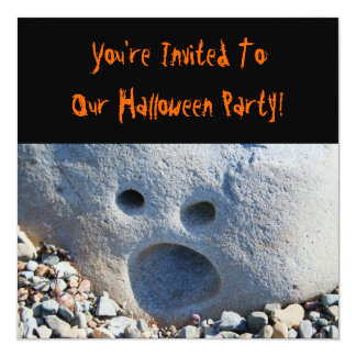 Screaming Halloween Party Card