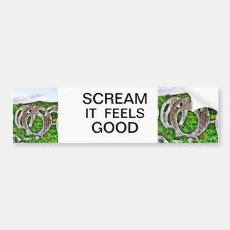SCREAMING HEADS IS A SCREAM BUMPER STICKER