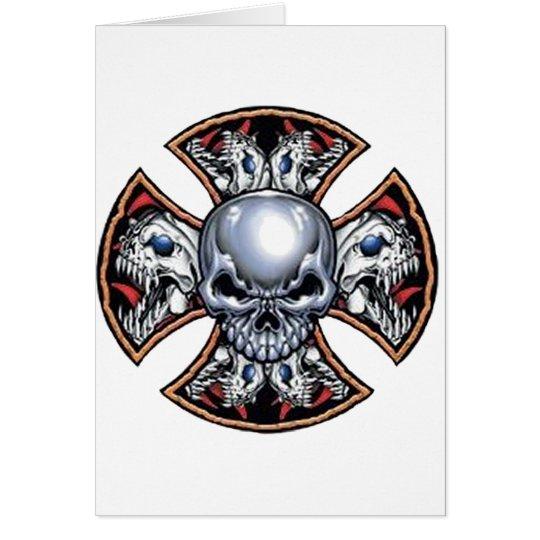 Screaming Iron Skull Card