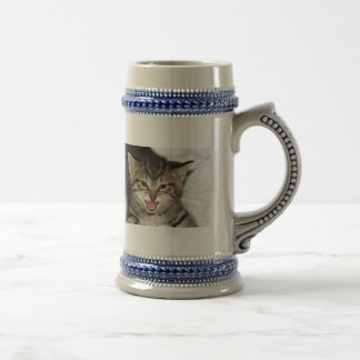 Screaming Kitty Beer Stein